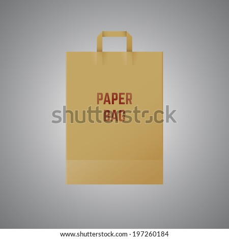 Paper bag vector illustration - stock vector
