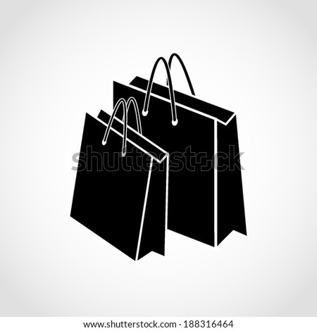 Paper bags Icon Isolated on White Background