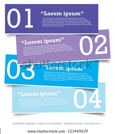 Paper Banner Design Templates Your Website Stock Vector 123469639 ...
