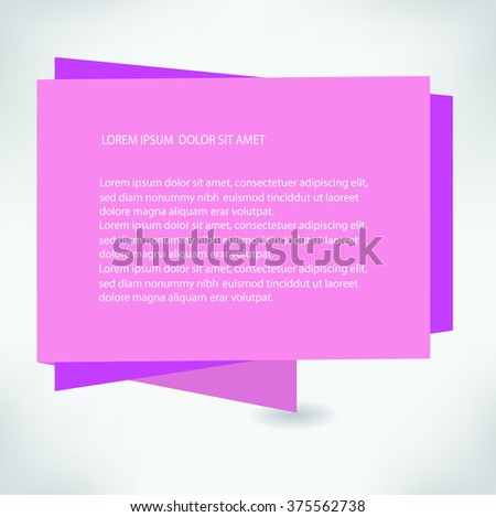 Paper banner. Vector illustration.