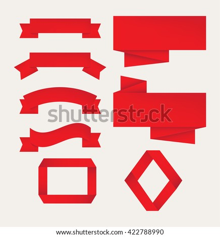 Paper banners set.Vector illustration. - stock vector