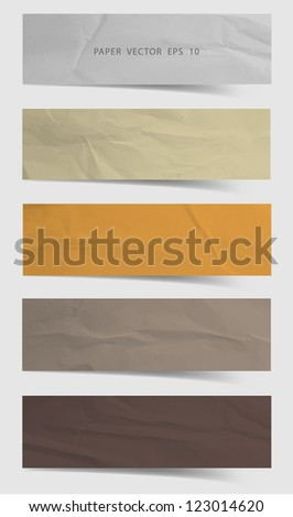 Paper banners / stickers / badges, Vector template design - stock vector
