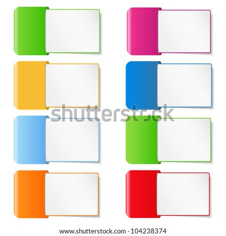 Paper banners, vector eps10 illustration - stock vector