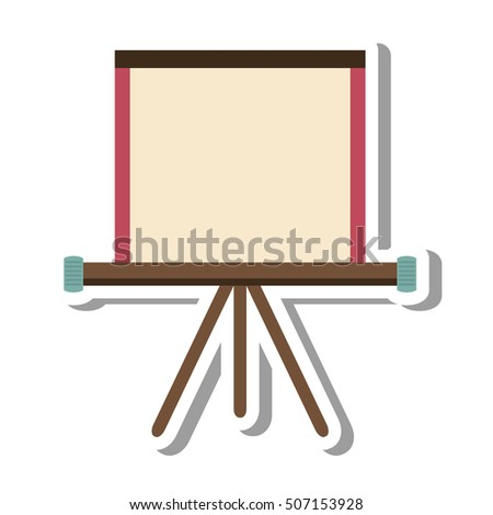 paper board training isolated icon vector illustration design