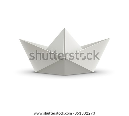 Paper boat. Realistic vector illustration