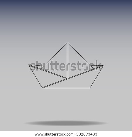 Paper boat vector icon