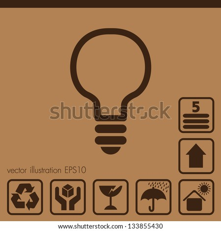 Paper box icons - stock vector
