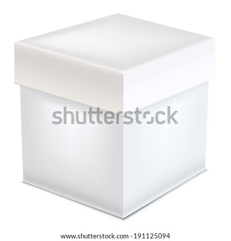 Paper box on white background. Vector illustration. - stock vector