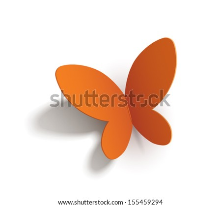 Paper butterfly (transparent shadows so it can be set to any background)