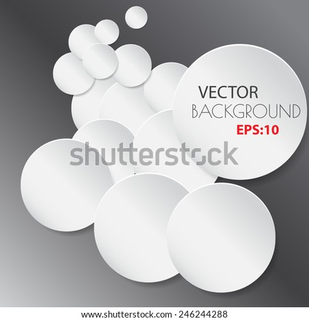 Paper circle banner with drop shadows. Vector illustration  - stock vector