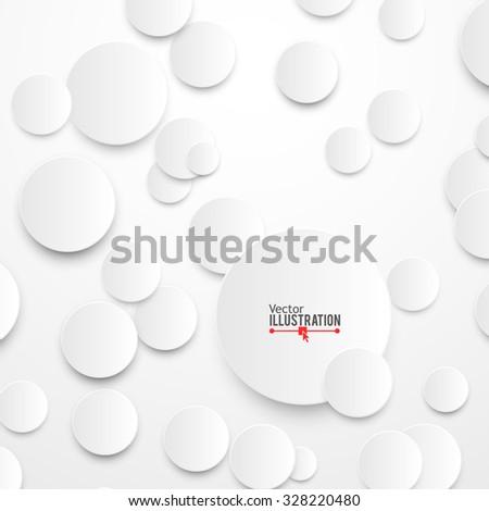 Paper Circles with Drop Shadows. Vector illustration - stock vector