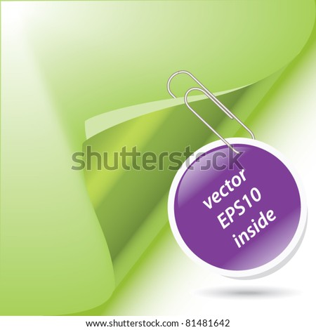 paper clip - business stick for business notes vector design - stock vector