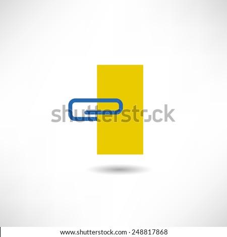 Paper clip icon - stock vector