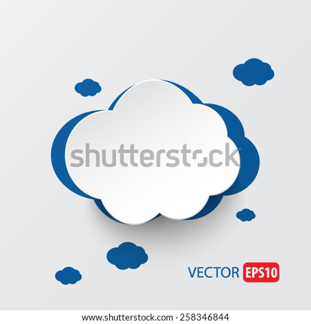 Paper clouds vector.