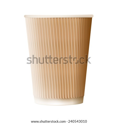 Paper coffee cup icon on a white background. Vector illustration. - stock vector
