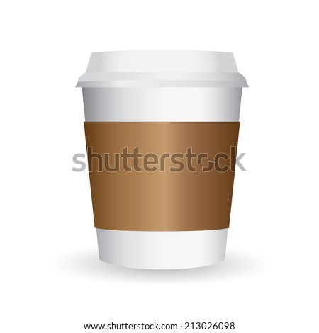 paper coffee cup vector
