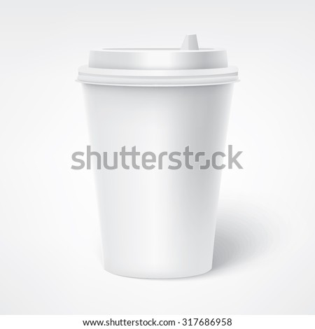Paper Coffee Cup. Vector illustration - stock vector