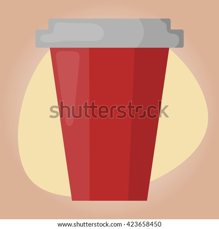 Paper cup colorful icon