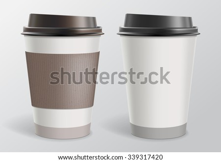 Paper Cup for coffee - stock vector