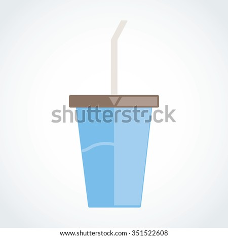 Paper cup icon Vector illustration EPS 10 - stock vector