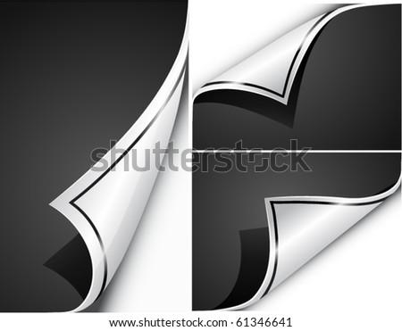 Paper curls. Vector - stock vector