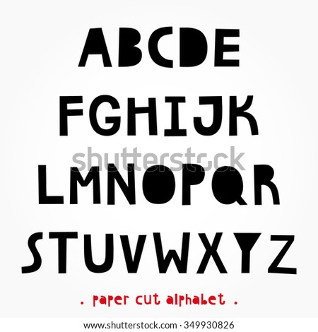 Paper Cut Alphabet For Your Design Creative Hand Made Letters Font Beautiful