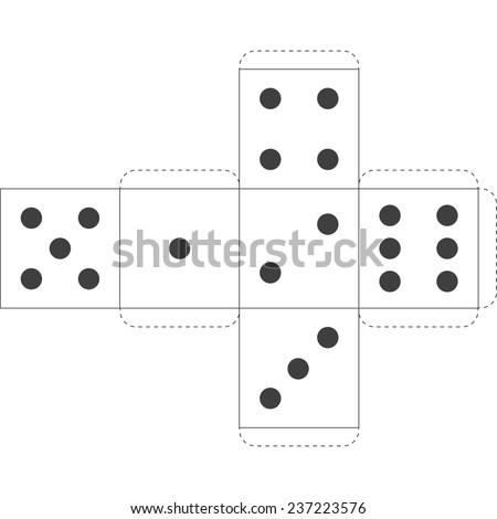 Paper dice template vector stock vector 237223576 shutterstock paper dice template vector maxwellsz