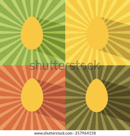 Paper easter egg card Vector EPS 10 illustration. - stock vector
