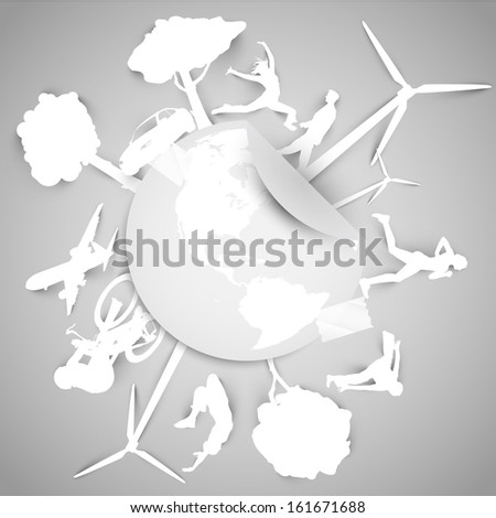 Paper ECO vector illustration - stock vector