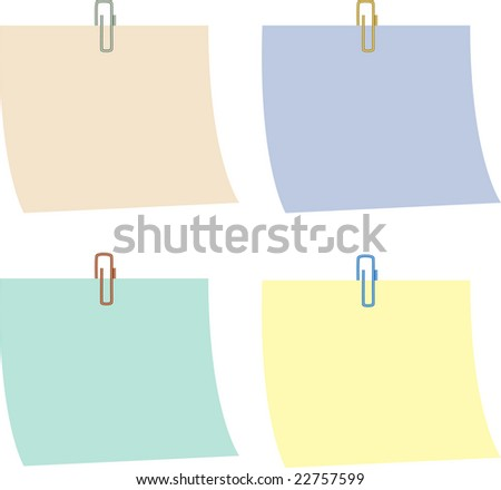 Paper, empty, color, clip, isolated on the white