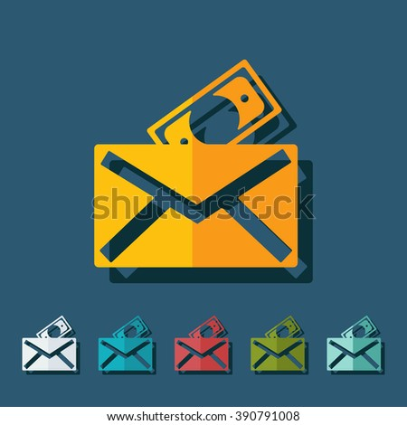 paper envelope business theme flat icon