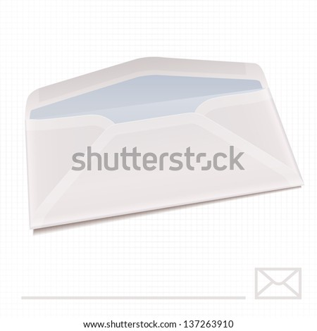 Paper envelope on the paper background. Eps 10 - stock vector