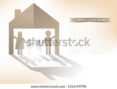 paper family concept, Vector illustration - stock vector