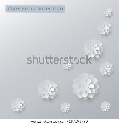 paper flower background - stock vector