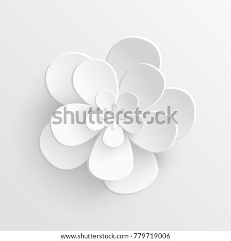 Paper flower lotus cut paper on stock photo photo vector paper flower lotus are cut from paper on a white background wedding decorations mightylinksfo
