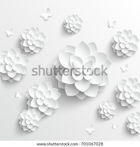 Paper flower lotus cut paper wedding stock vector royalty free paper flower lotus cut paper wedding stock vector royalty free 701067028 shutterstock mightylinksfo