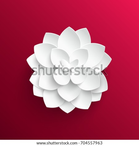 Paper flower lotus cut paper wedding stock vector royalty free paper flower lotus cut from paper wedding decorations wedding lace greeting card mightylinksfo