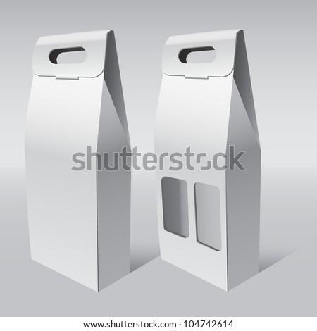 Paper food cardboard package - stock vector