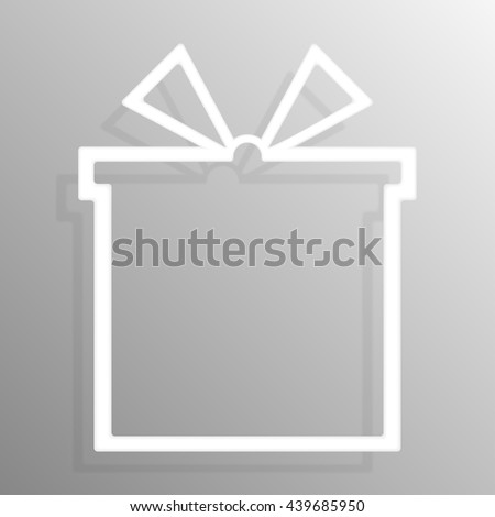 Paper gift-box  banners template for business design, infographics. Vector illustration eps10. - stock vector
