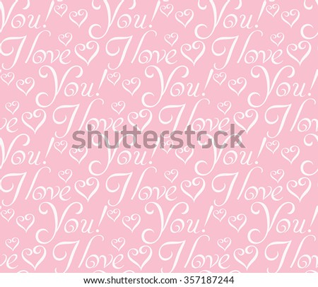 paper gift wrapping, I love you, love, love letter, lovebackground, love message, love text, love image, love art, love vector, i love love, love graphics, lettering design, pink image, vector - stock vector
