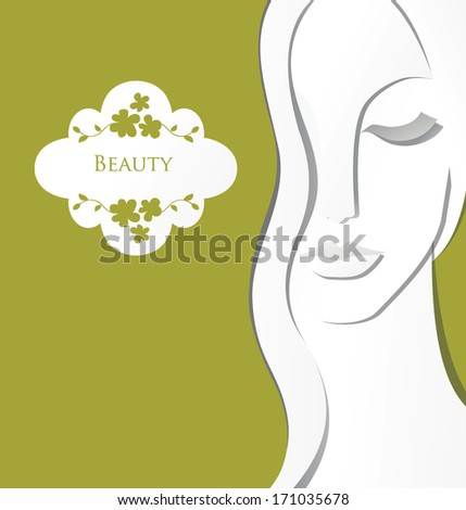 Paper girl - stock vector