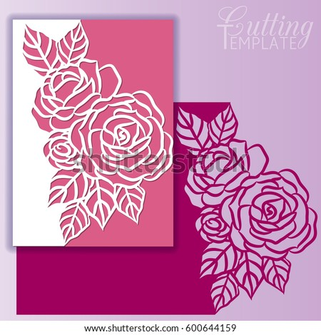 Paper Greeting Card Lace Border Pattern Stock Vector 600644159 ...