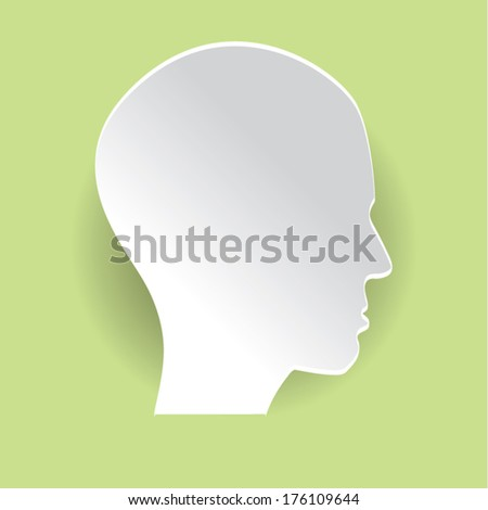 paper head green background colorful.can be use as flyer, banner or poster.vector illustration