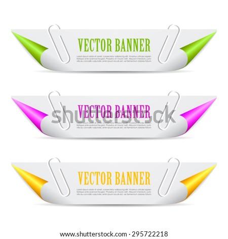 Paper header banner - stock vector