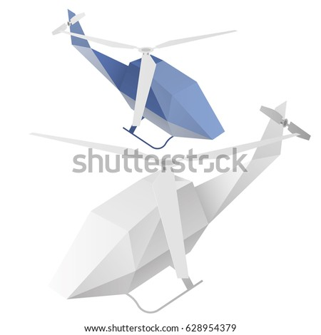 Paper Helicopter Origami Startup Business Travel Stock Vector 2018
