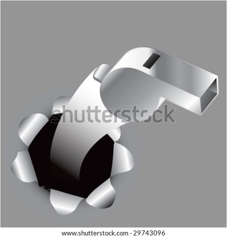 paper hole popping out whistle - stock vector