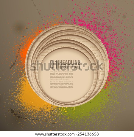 Paper hole & Spray paint. Design element - stock vector