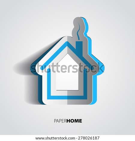 home design card. Paper home design  house icon or card in papercut style House Of Cards Stock Images Royalty Free Vectors