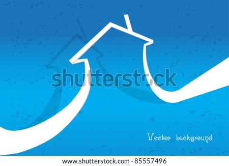 paper house vector - stock vector