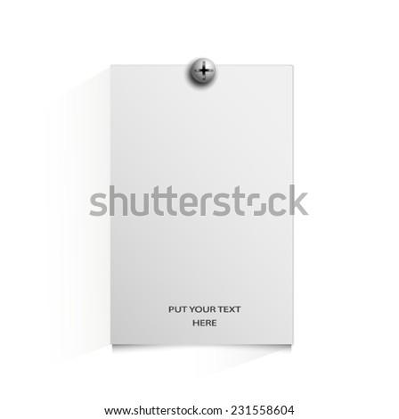 paper labels. Vector. - stock vector